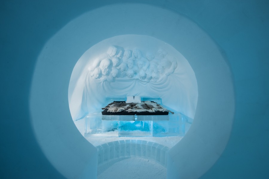 ICEHOTEL 2017. Art Suite Audience. Design Edith Van De Wetering & Wilfred Stijger. Photo Asaf Kliger.