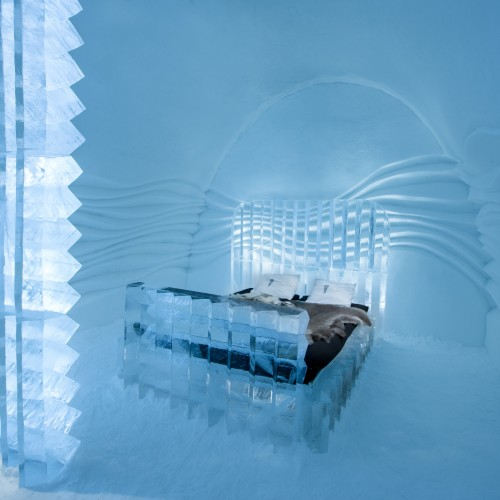 ICEHOTEL Sweden 2016 Art Suite, Eye Suite design by Nicolas Triboulot (France) Cédric Alizard (France)
