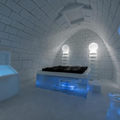 Example of an Art Suite at Sweden's Ice Hotel.