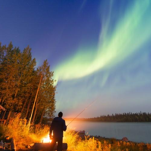Autumn Northern Lights, Ice Hotel, Sweden